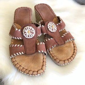 NURTURE Brown Wedge Sandals Size 7 Tortola